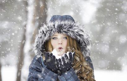 Kobieta zimą